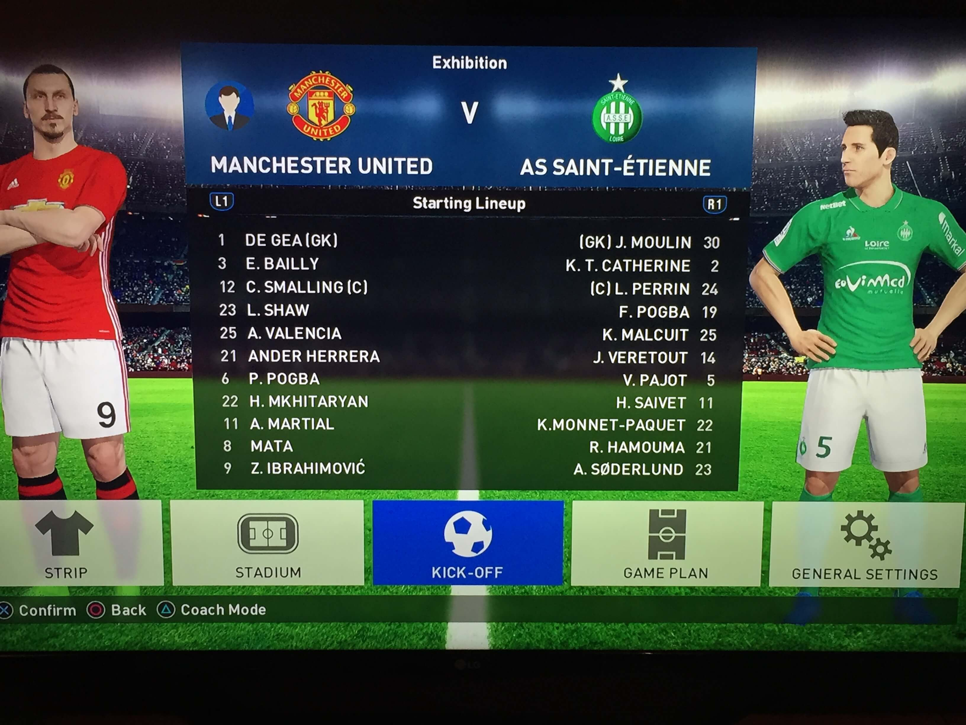 PES Previews Manchester United St Etienne
