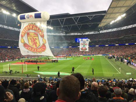 Man United Flag at Wembley